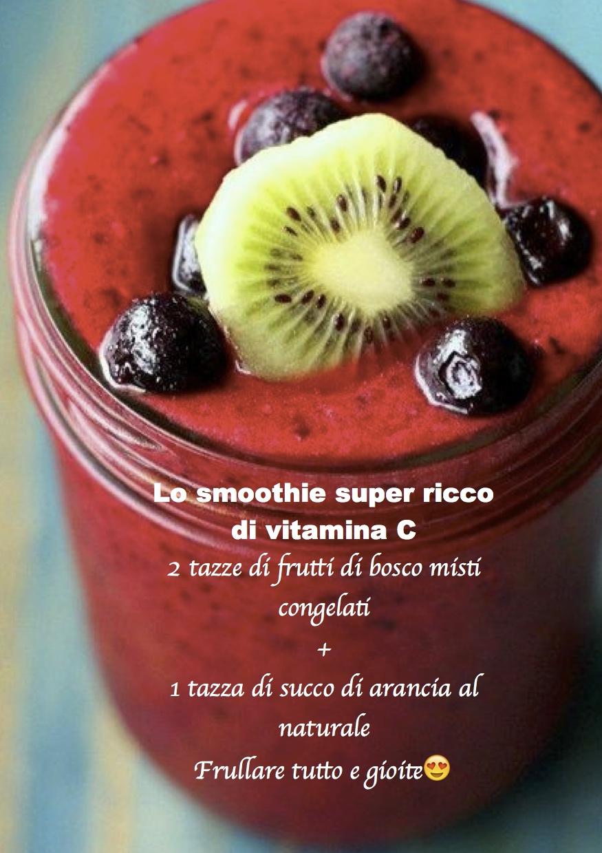 LO SMOOTHIE SUPER RICCO DI VITAMINA C
