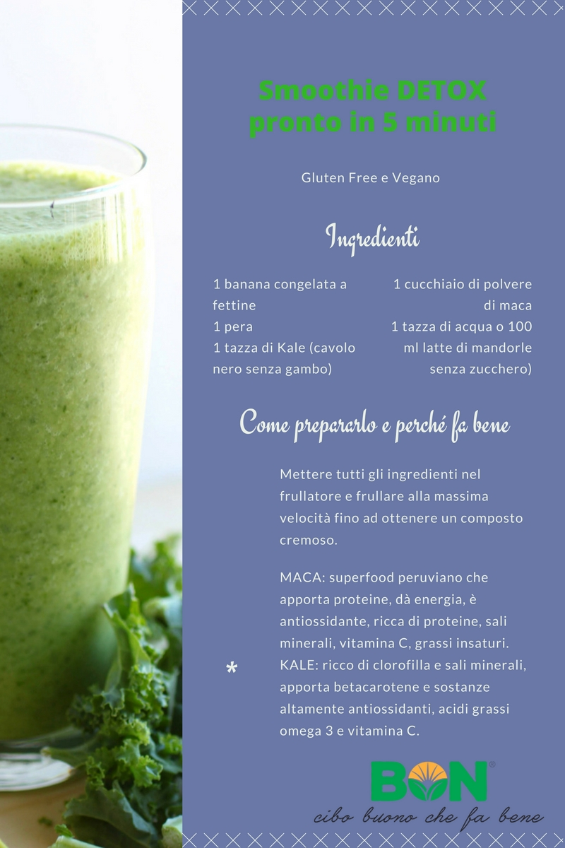 LO SMOOTHIE DETOX PRONTO IN 5 MINUTI